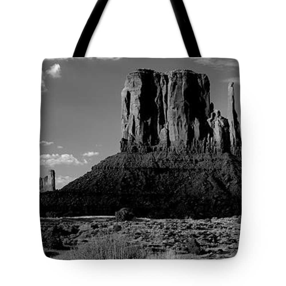 Photography Tote Bag featuring the photograph Rock Formations On A Landscape by Panoramic Images
