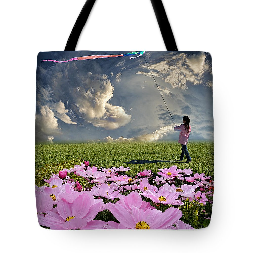 Girl Tote Bag featuring the photograph 3356 by Peter Holme III
