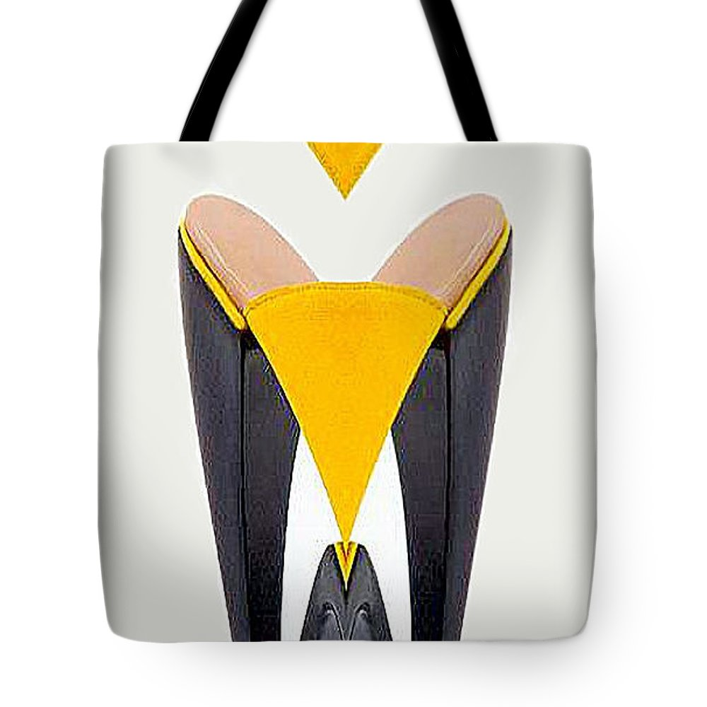Conceptual Tote Bag featuring the digital art Shoe Love by Rafael Salazar