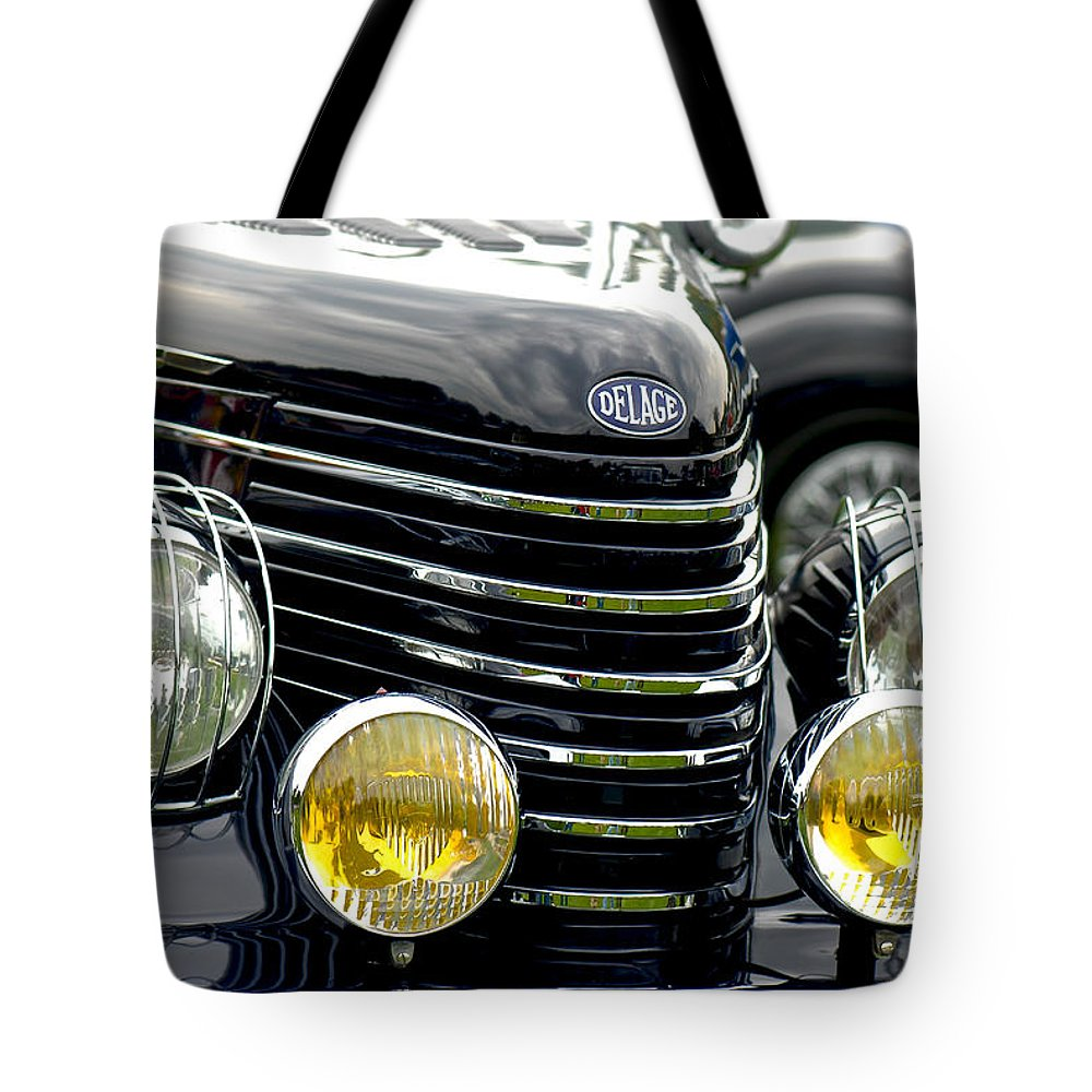 Car Tote Bag featuring the photograph 35 Delage by Douglas Perry