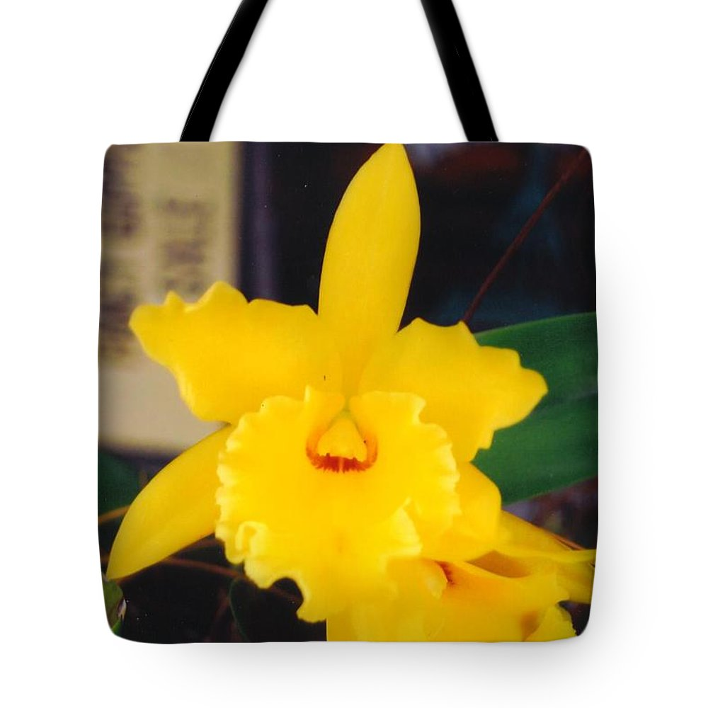 Grown At Home Tote Bag featuring the photograph Orchid by Robert Floyd
