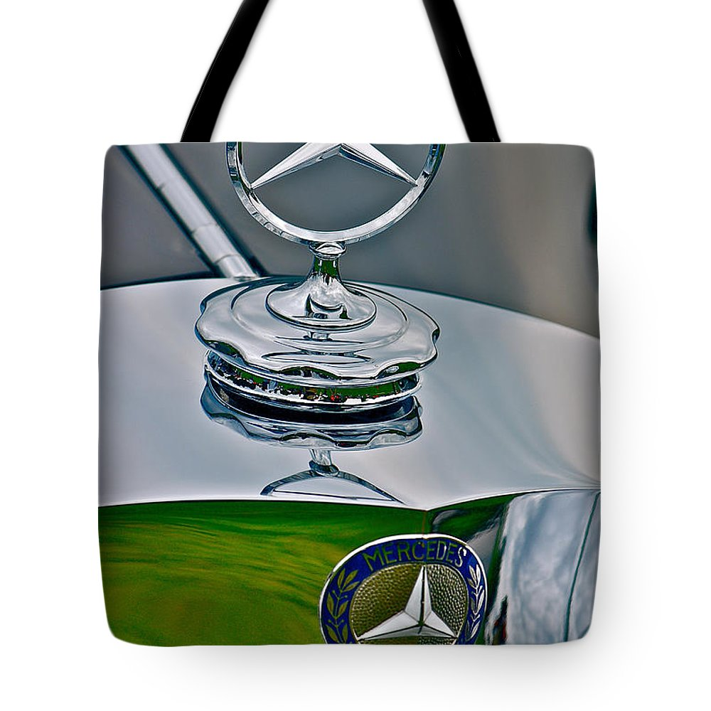 Car Tote Bag featuring the photograph 37 Benz by Douglas Perry