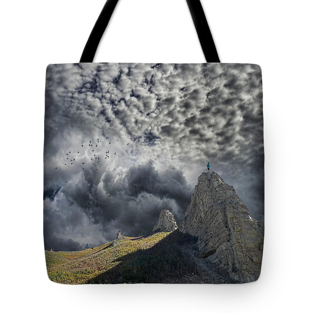 Man Tote Bag featuring the photograph 3755 by Peter Holme III