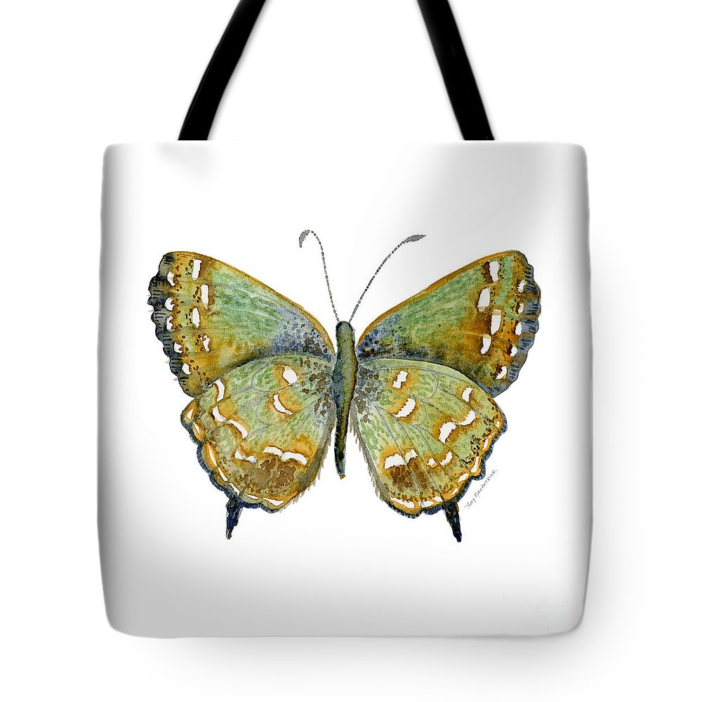Hesseli Tote Bag featuring the painting 38 Hesseli Butterfly by Amy Kirkpatrick