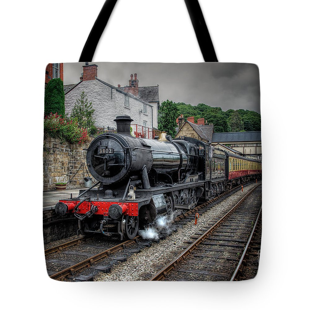 1938 Tote Bag featuring the photograph 3802 At Llangollen Station by Adrian Evans