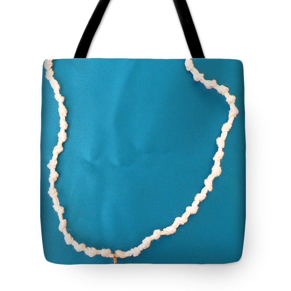 Augusta Stylianou Tote Bag featuring the jewelry Aphrodite Gamelioi Necklace by Augusta Stylianou