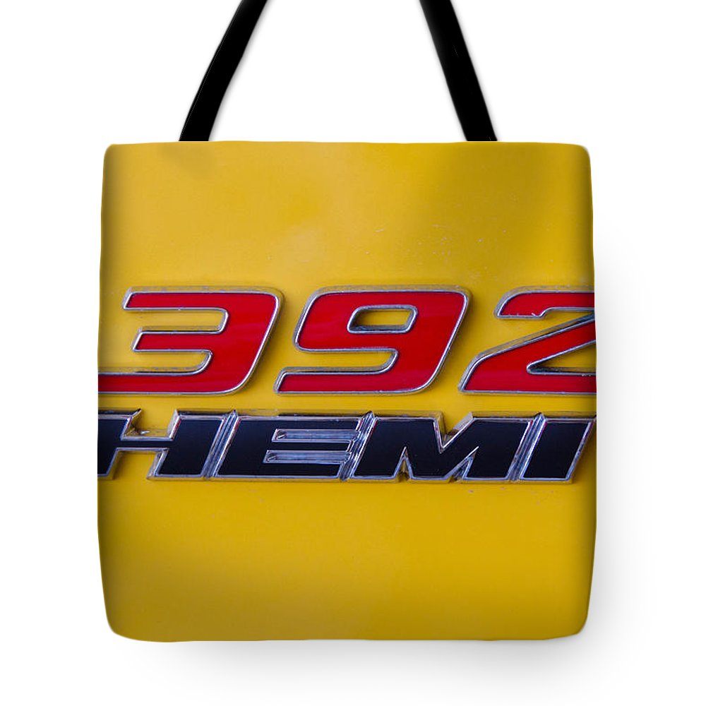 392 Hemi Tote Bag featuring the photograph 392 Hemi In Yellow by Guy Whiteley