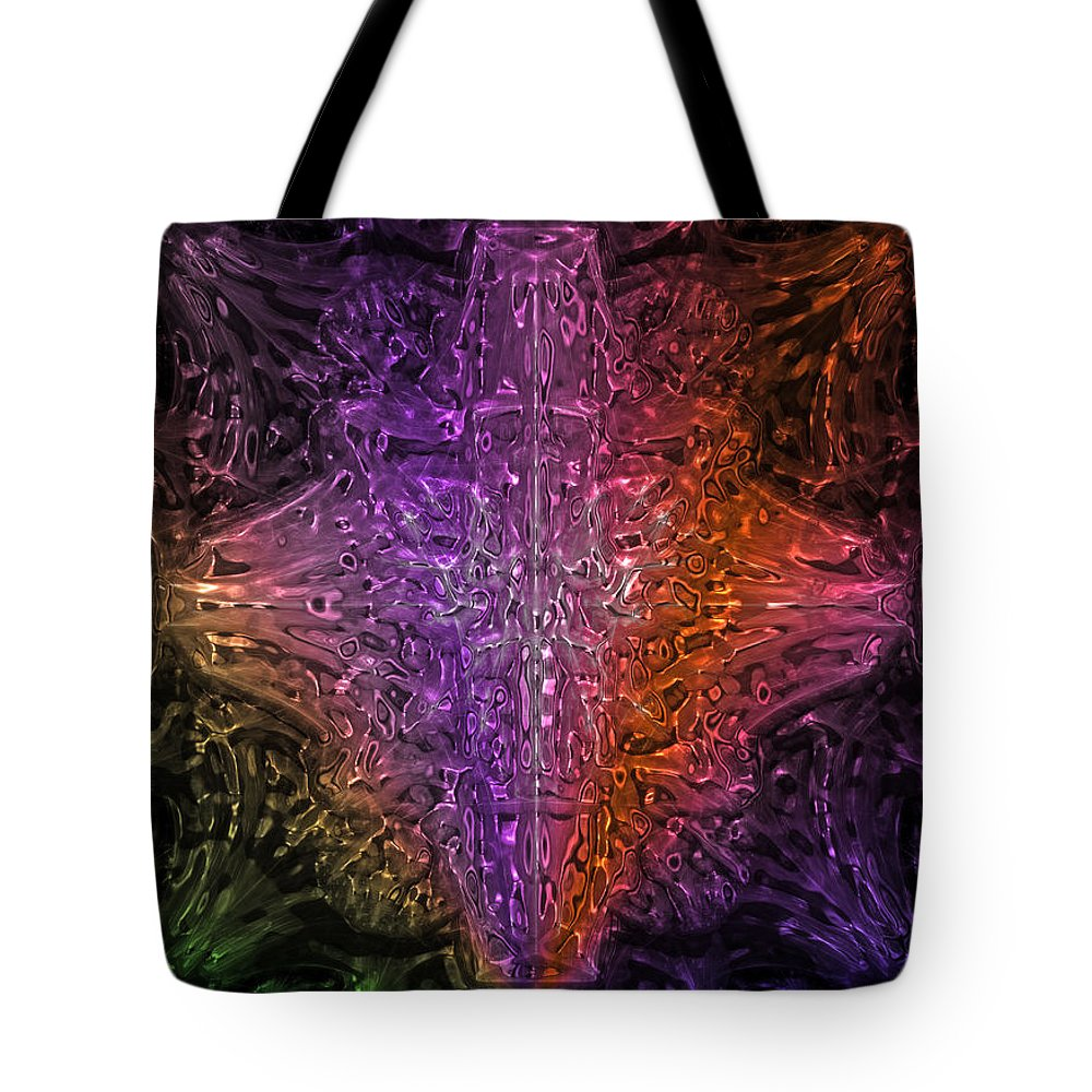 Abstract Tote Bag featuring the digital art Abstract Series 03 by Carlos Diaz