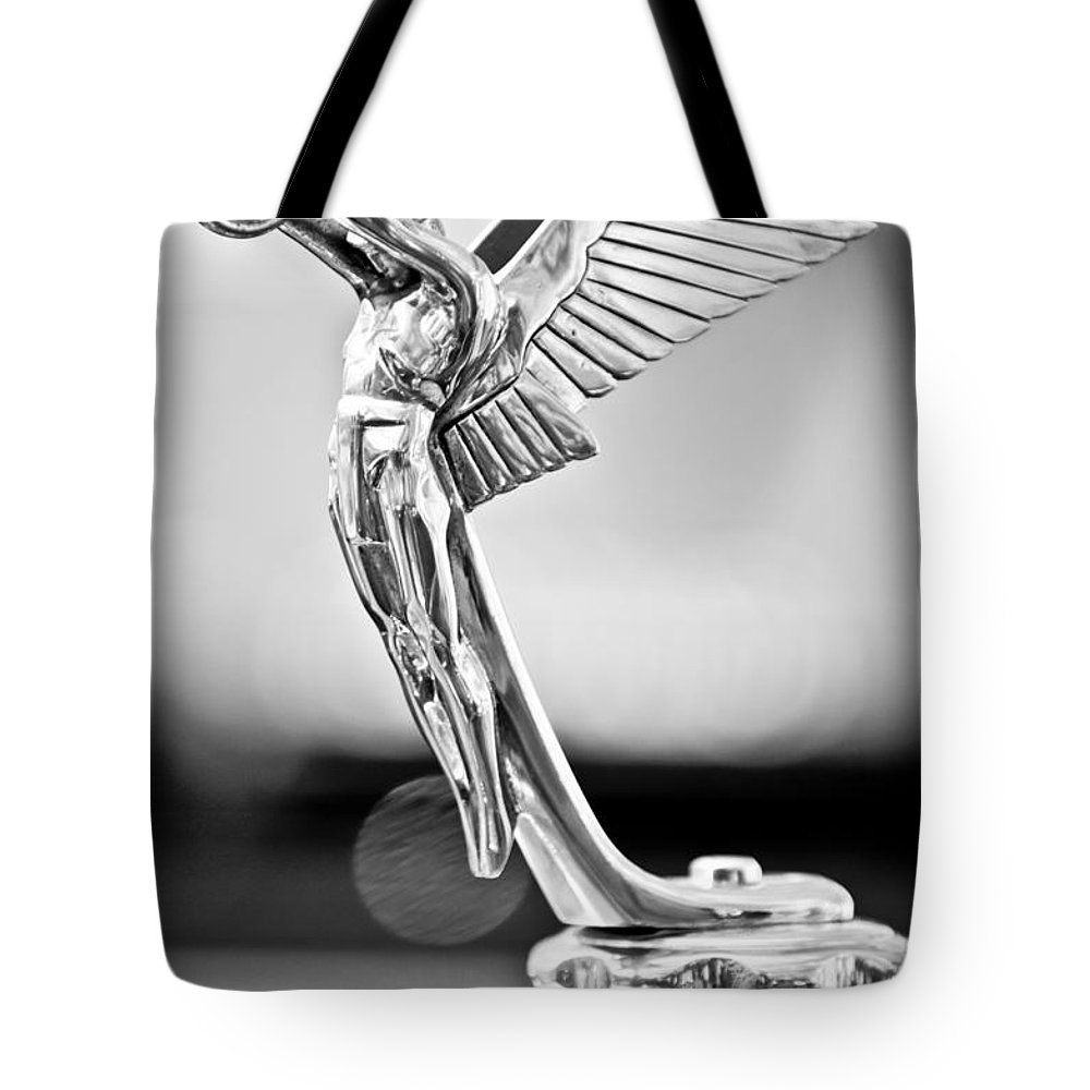 1928 Isotta Fraschini Tipo 8as Landaulet Hood Ornament Tote Bag featuring the photograph 1928 Isotta Fraschini Tipo 8as Landaulet Hood Ornament by Jill Reger