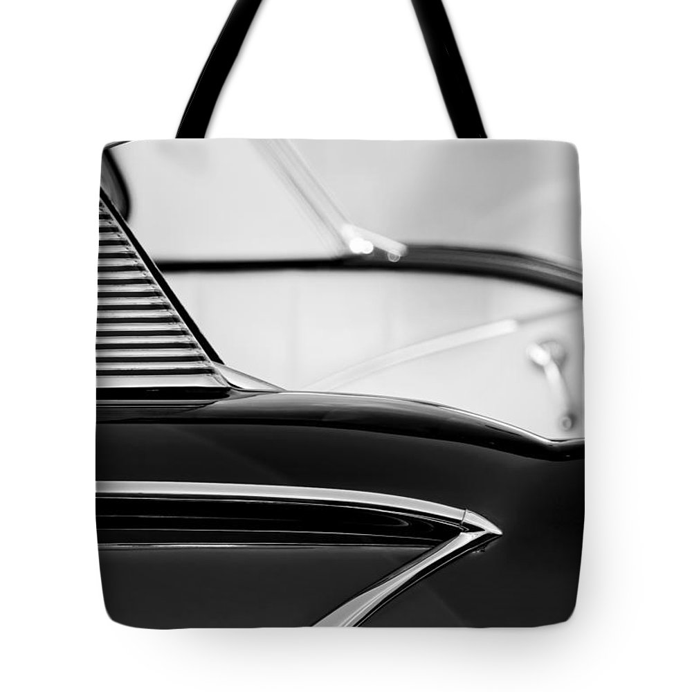 1958 Chevrolet Belair Abstract Tote Bag featuring the photograph 1958 Chevrolet Belair Abstract by Jill Reger