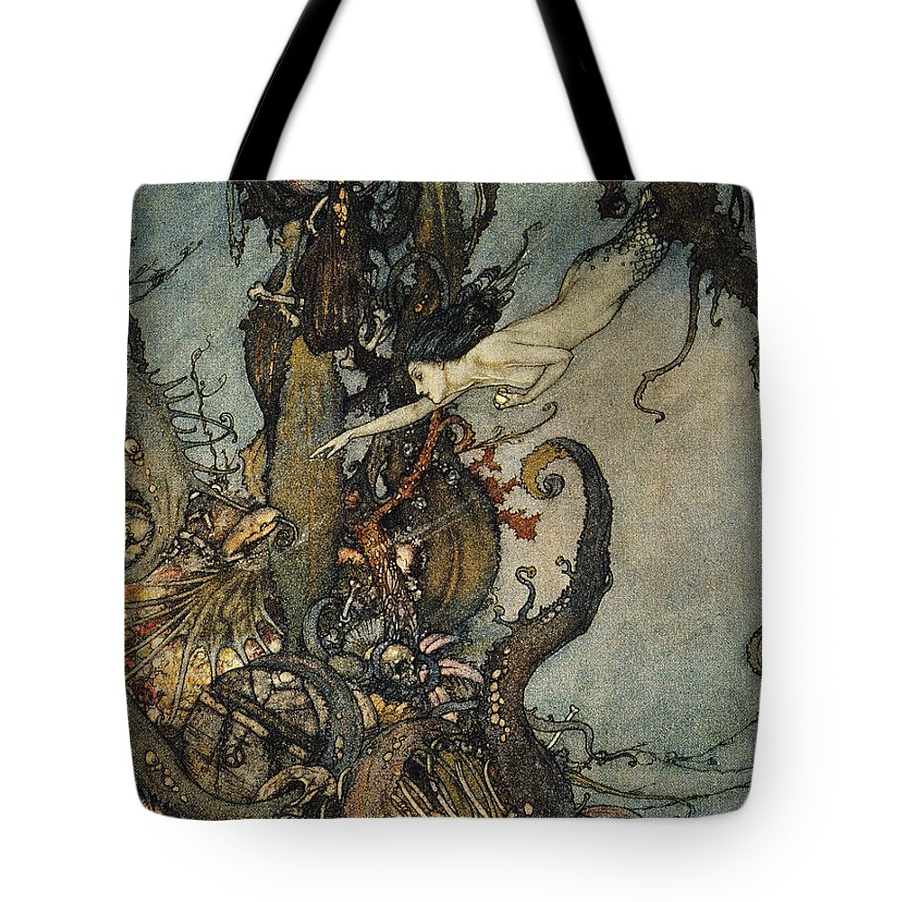 1911 Tote Bag featuring the photograph Andersen: Little Mermaid by Granger