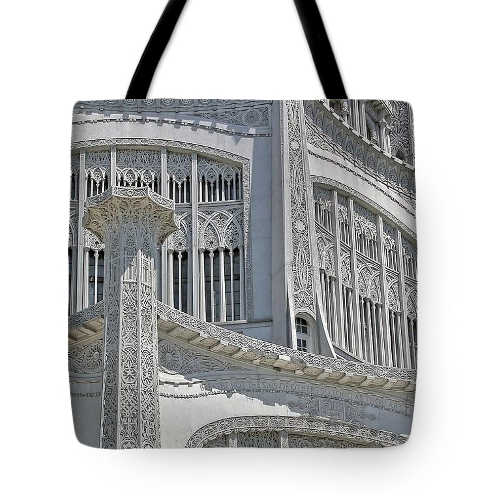 Architecture Tote Bag featuring the photograph Bahai Temple Wilmette by Rudy Umans