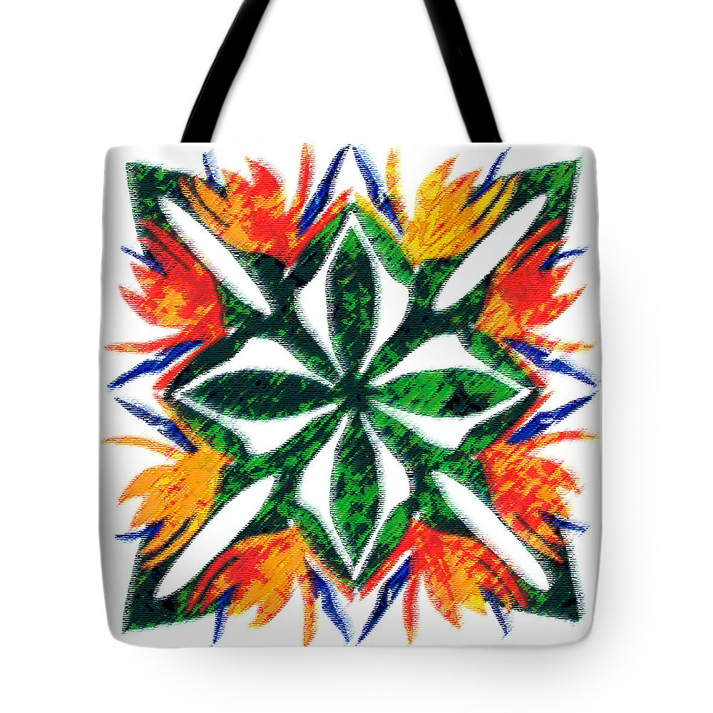 Bird Of Paradise Tote Bag featuring the digital art Bird of Paradise by James Temple