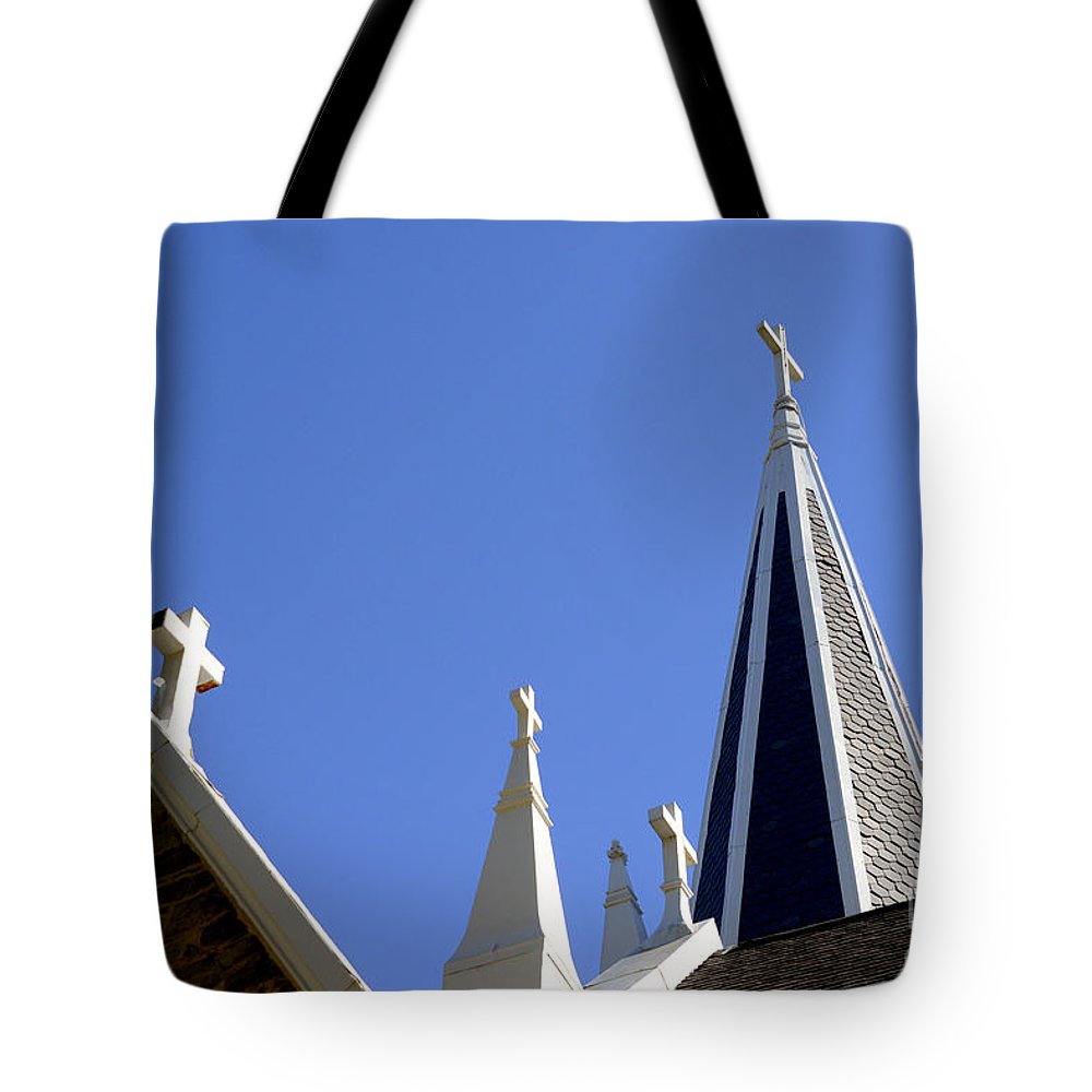 Harpers Ferry Tote Bag featuring the photograph 4 Crosses by Paul W Faust - Impressions of Light
