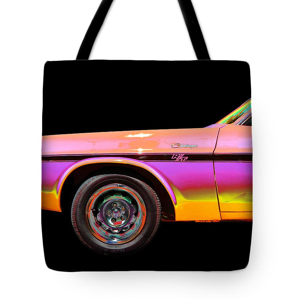 1970 Dodge Challenger Tote Bag featuring the photograph Dodge by Allan Price
