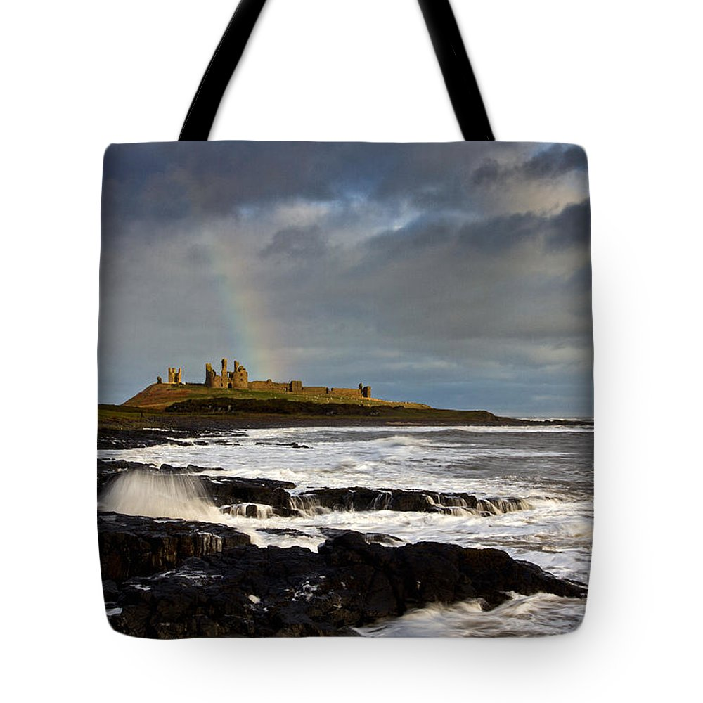 Dunstanburgh Castle Tote Bag featuring the photograph Dunstanburgh Castle by David Pringle