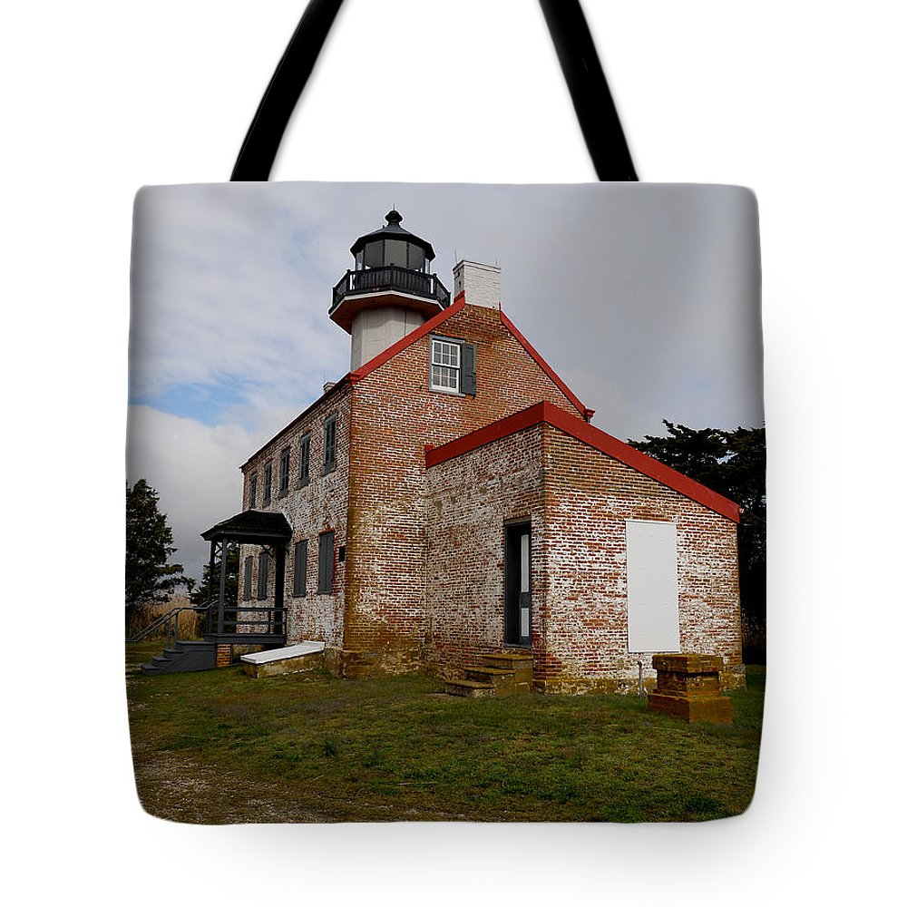 Nj Tote Bag featuring the photograph East Point Lighthouse by Skip Willits