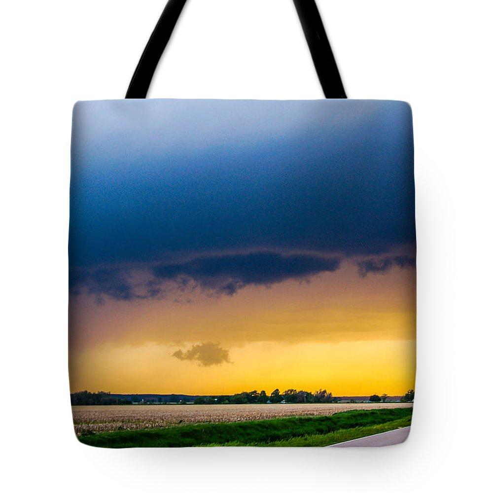 Nebraskasc Tote Bag featuring the photograph Elm Creek Nebraska Supercell by NebraskaSC