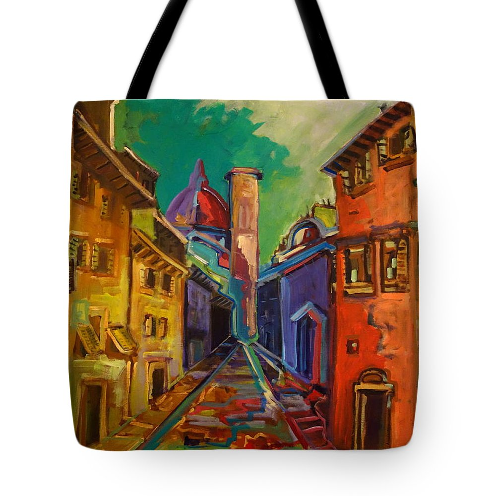 Florence Tote Bag featuring the painting Florence by Kurt Hausmann