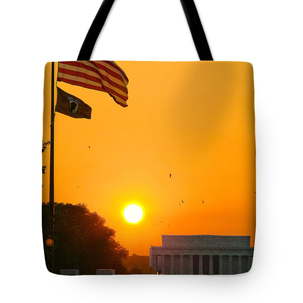 Landscape Tote Bag featuring the photograph Freedom by Mitch Cat