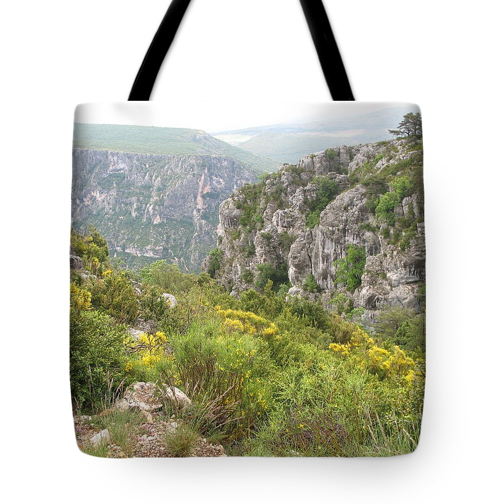 Canyon Tote Bag featuring the photograph Grand Canyon Du Verdon - France by Christiane Schulze Art And Photography