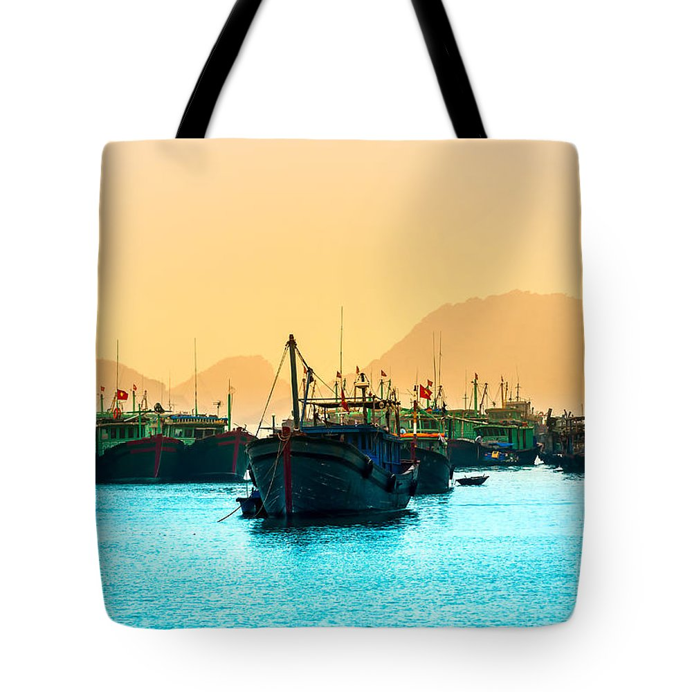 Asia Tote Bag featuring the photograph Halong Bay - Vietnam by Luciano Mortula