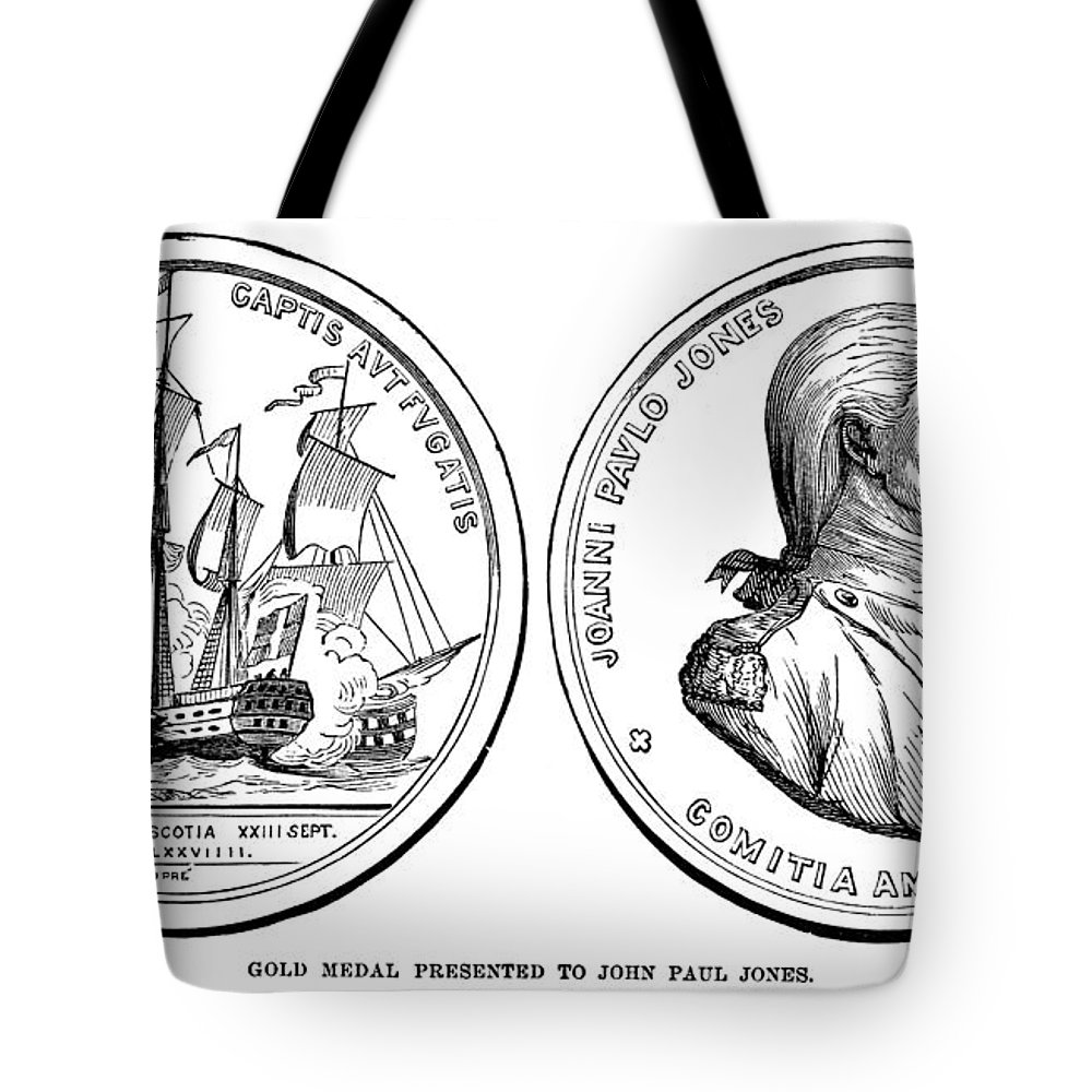 1787 Tote Bag featuring the photograph John Paul Jones (1747-1792) by Granger