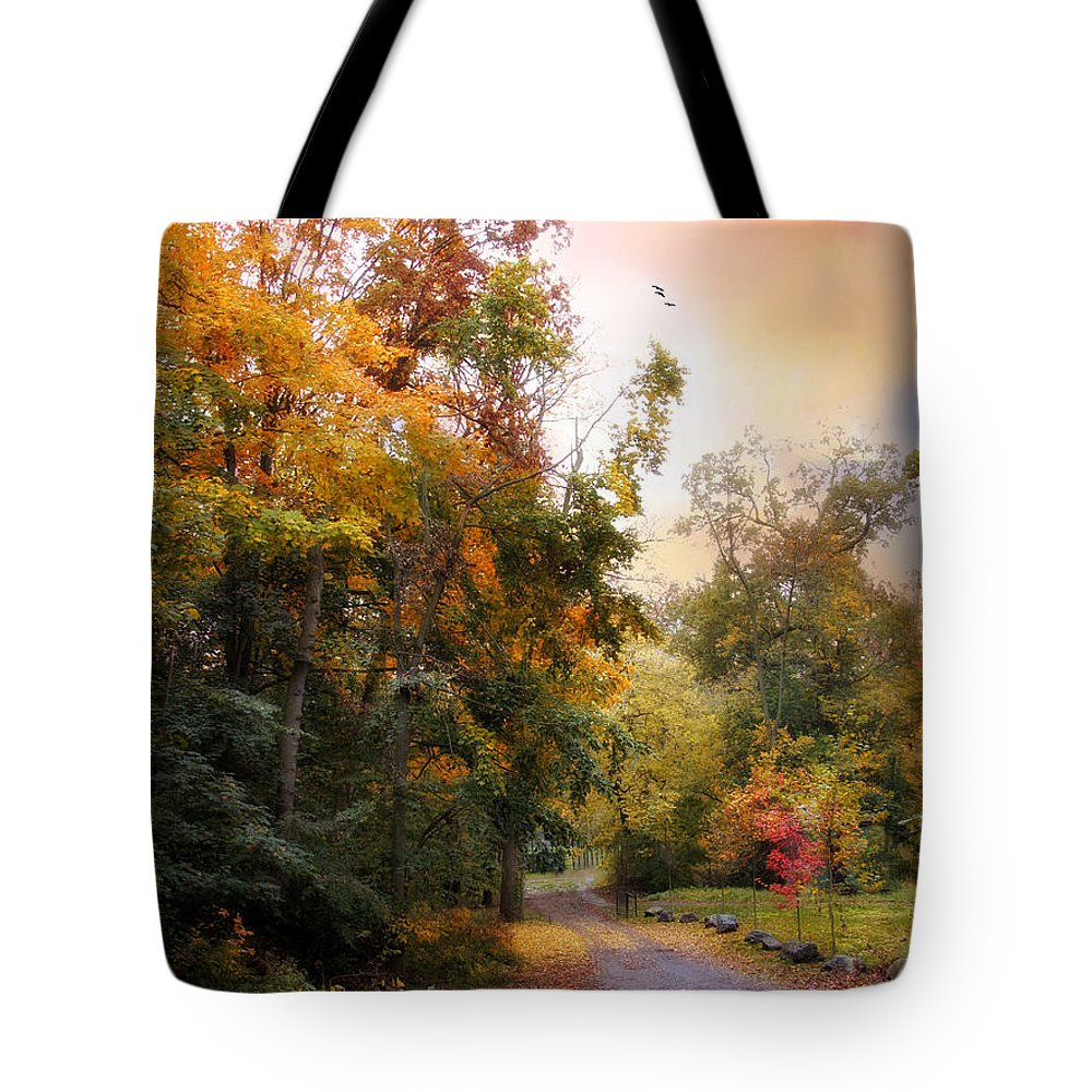 Autumn Tote Bag featuring the photograph Last Light by Jessica Jenney