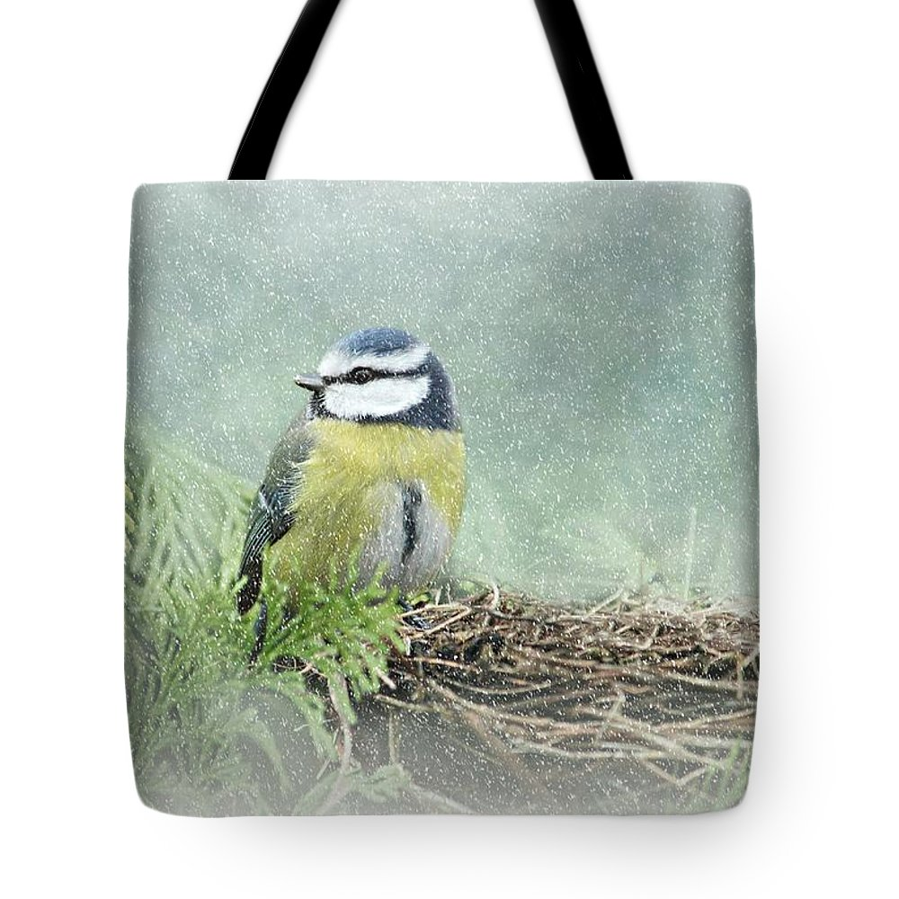 Tit Tote Bag featuring the photograph Little Bird by Heike Hultsch