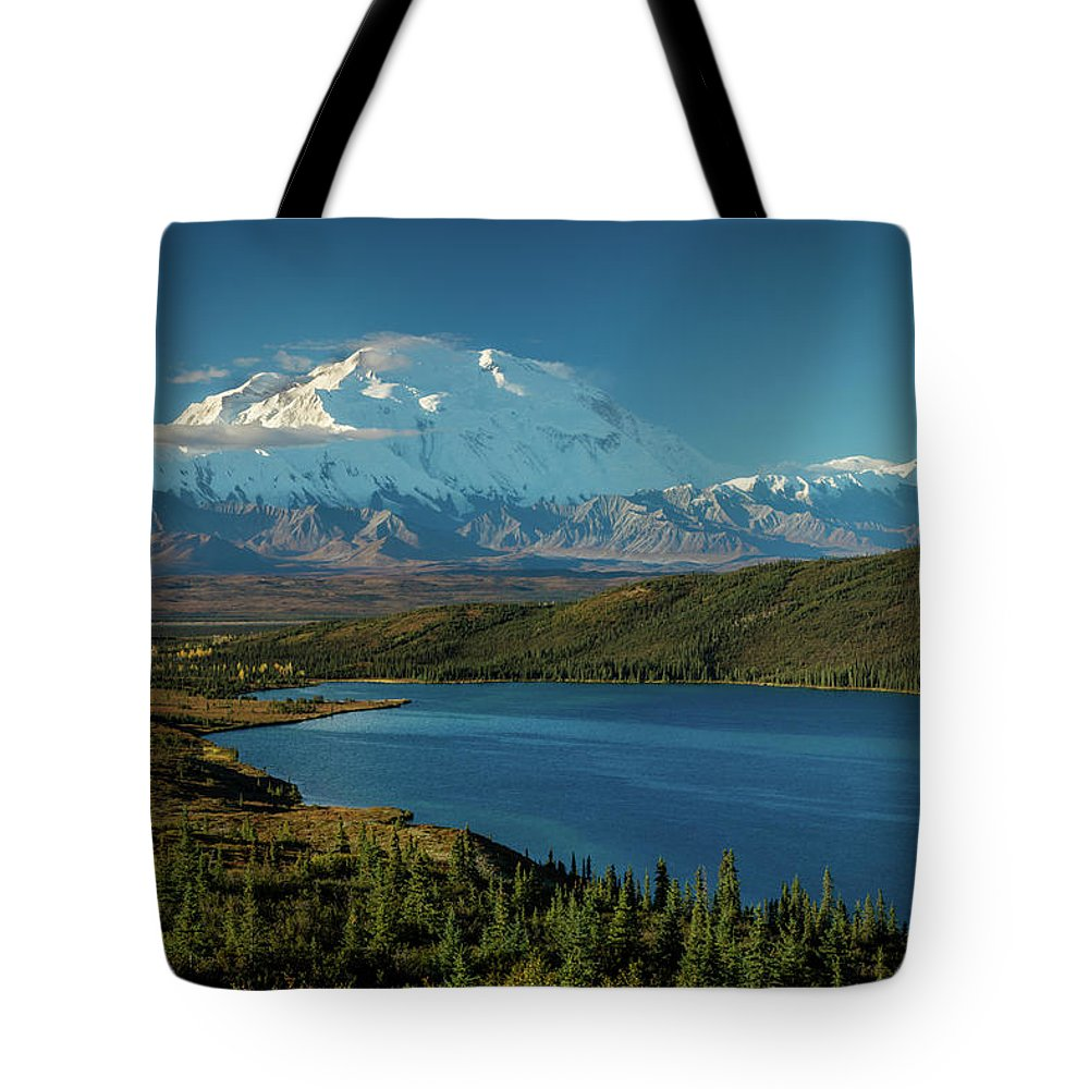 Photography Tote Bag featuring the photograph Mount Denali, Previously Known by Panoramic Images