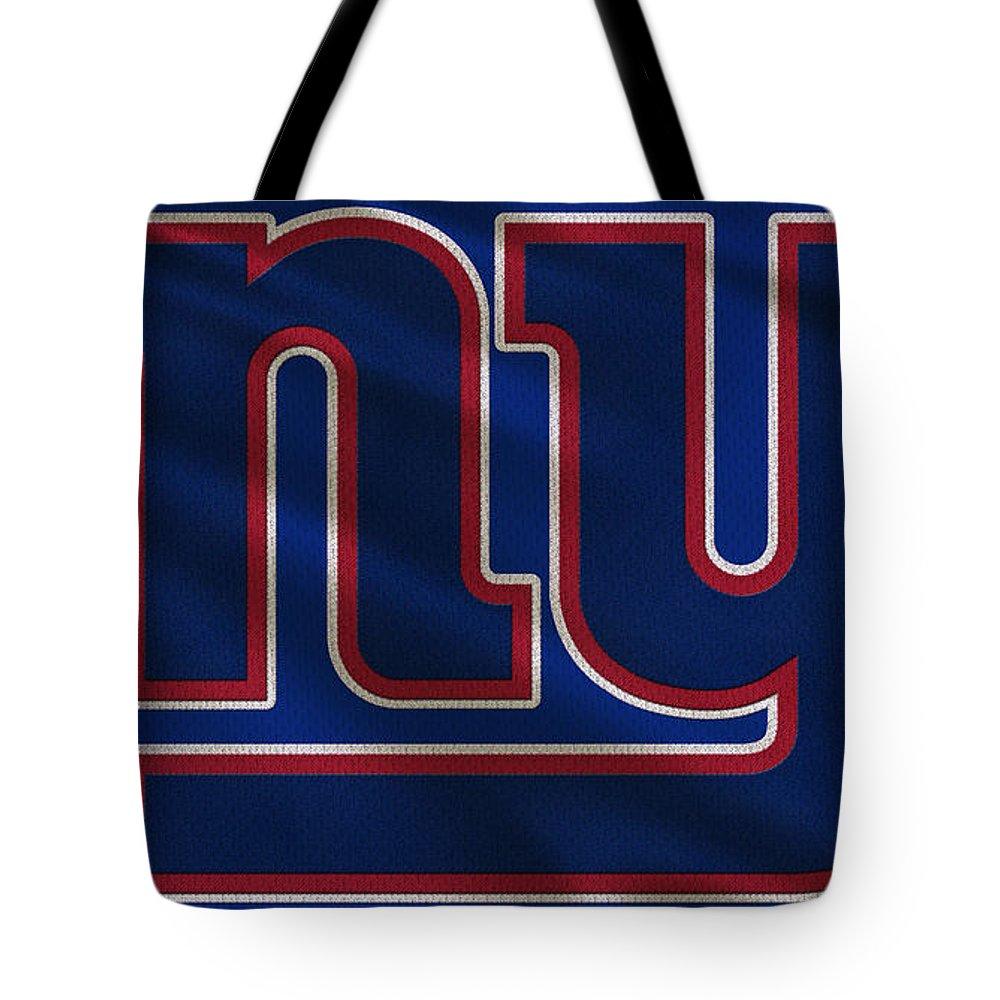 Giants Tote Bag featuring the photograph New York Giants Uniform by Joe Hamilton