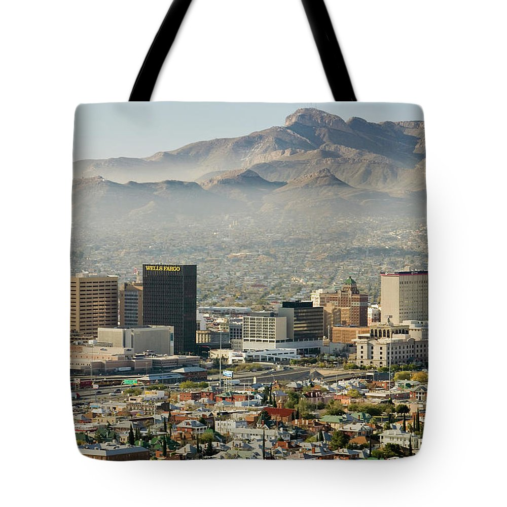Photography Tote Bag featuring the photograph Panoramic View Of Skyline And Downtown by Panoramic Images