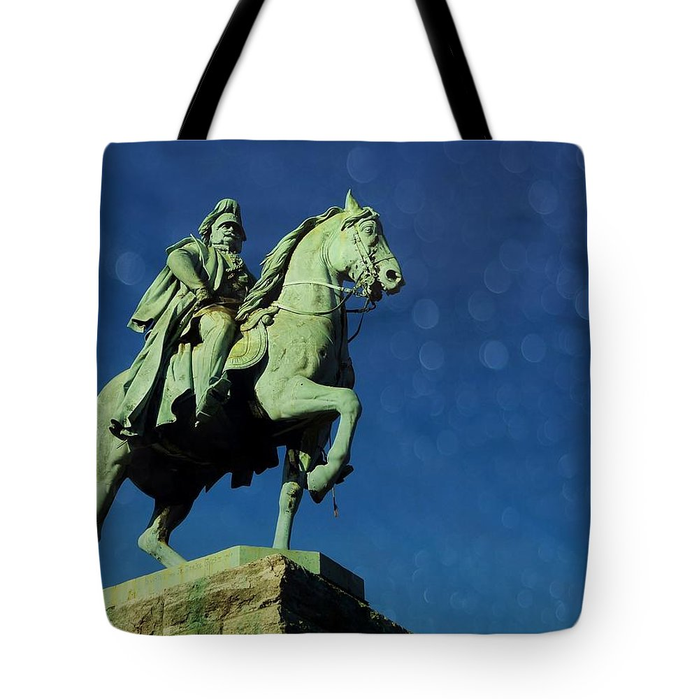 Portrait Tote Bag featuring the photograph Sculptures by Gabi Siebenhuehner