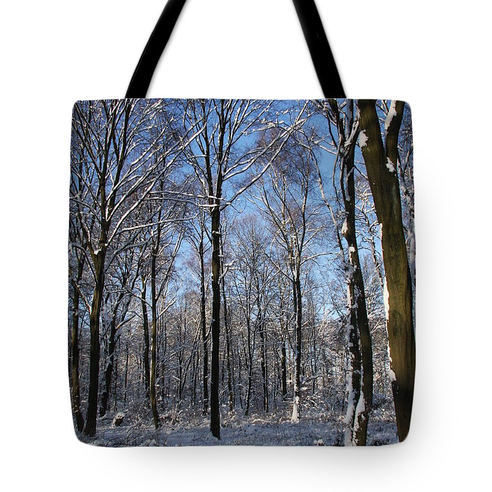 Winter Tote Bag featuring the photograph Snowy Landscape by Christiane Schulze Art And Photography