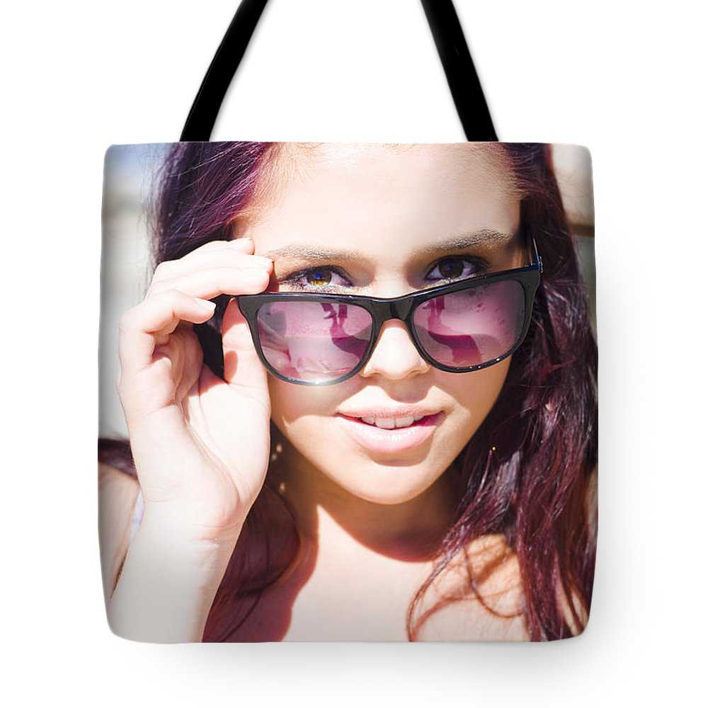 Attractive Tote Bag featuring the photograph Summer Fashion by Jorgo Photography - Wall Art Gallery