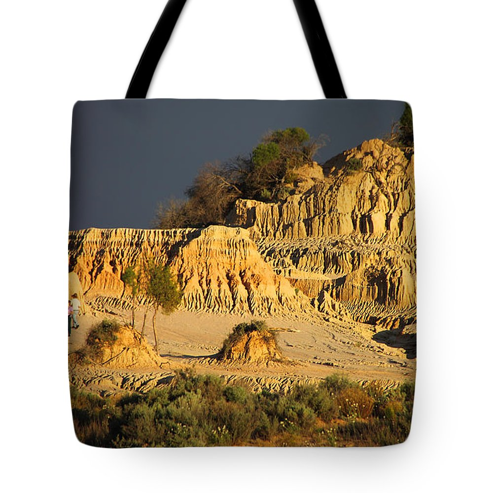 Pinnacles Tote Bag featuring the photograph Sunset In An Ancient Land by Carole-Anne Fooks