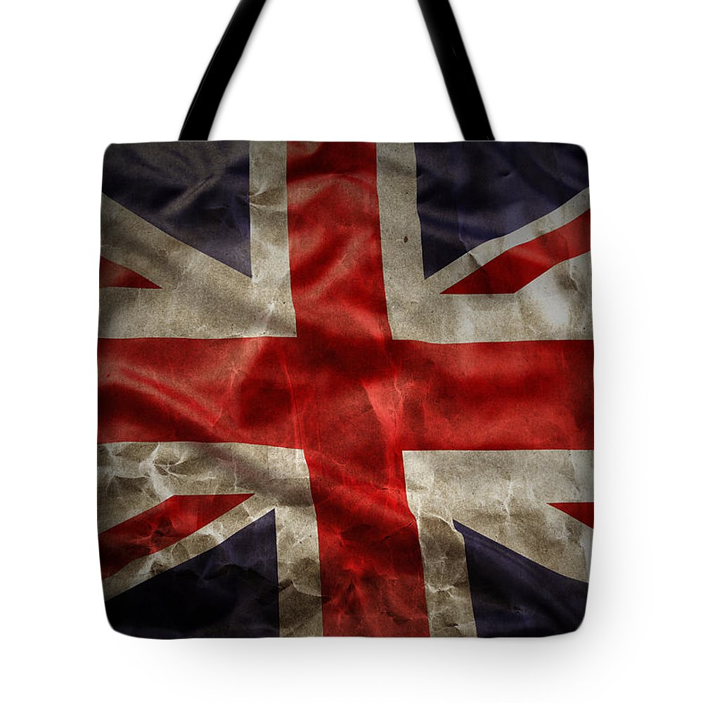 Old Tote Bag featuring the photograph Union Jack by Les Cunliffe