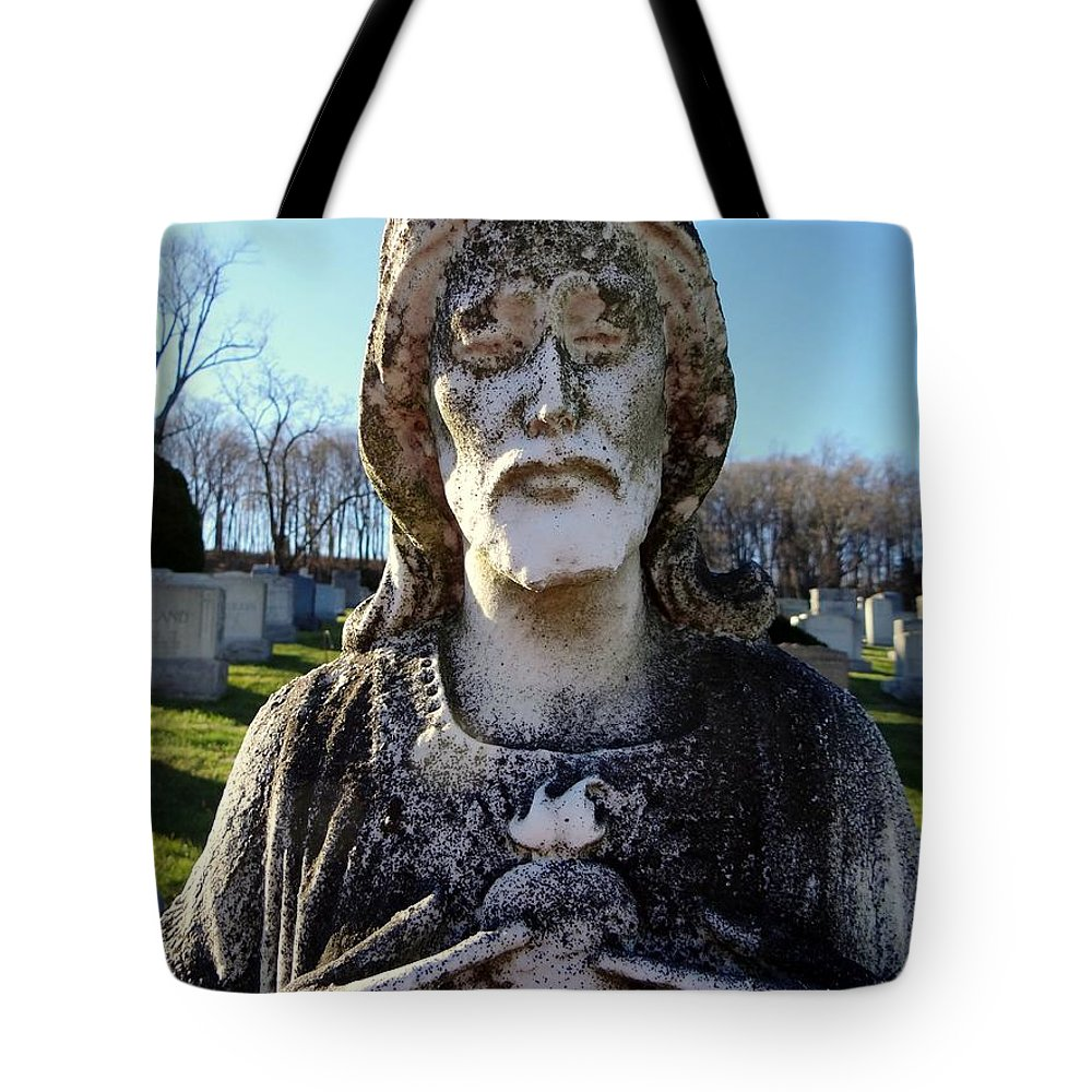 Jesus Tote Bag featuring the photograph Untitled by Ed Weidman