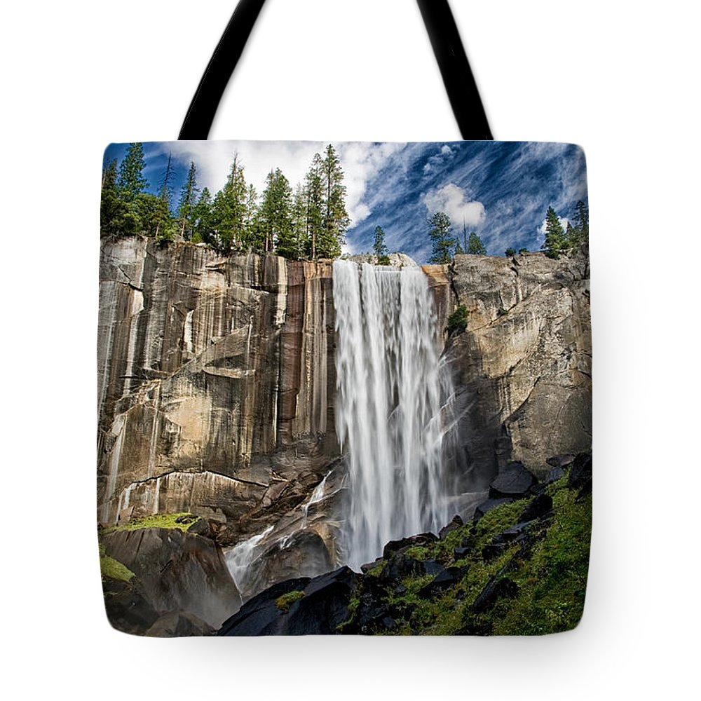 River Tote Bag featuring the photograph Vernal Falls by Cat Connor