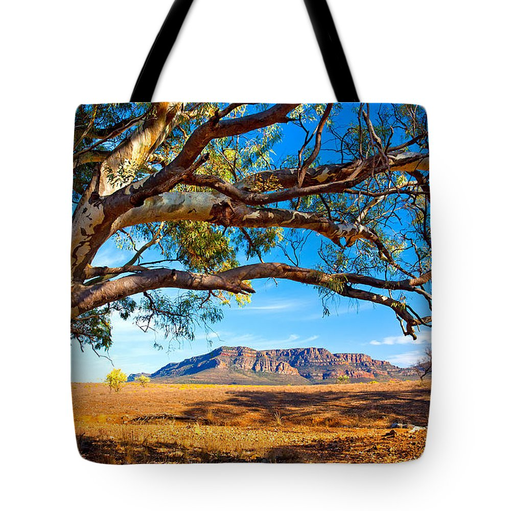Wilpena Pound Flinders Ranges South Australia Outback Landscape Tote Bag featuring the photograph Wilpena Pound by Bill Robinson