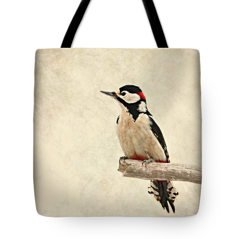 Animal Tote Bag featuring the photograph Woodpecker by Heike Hultsch
