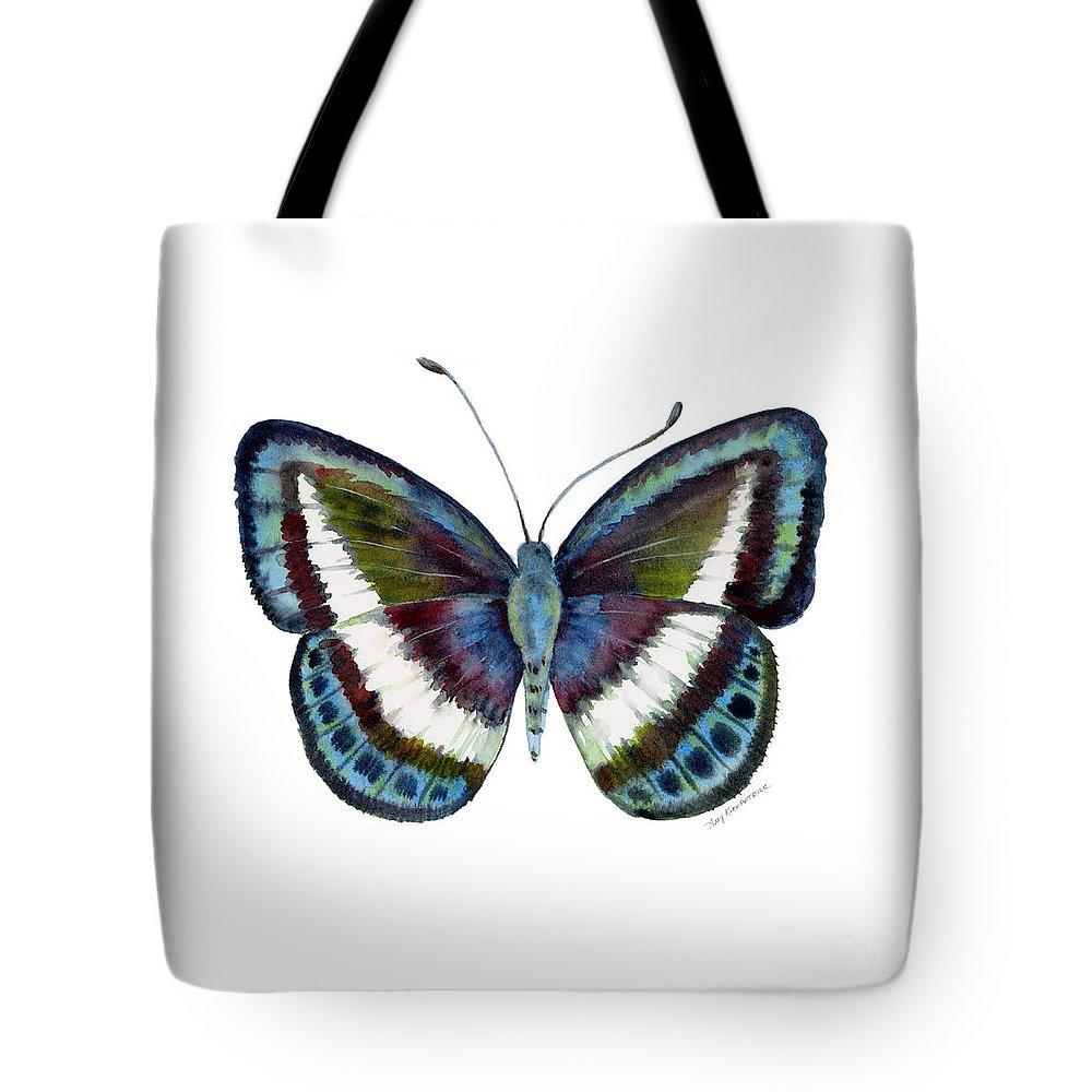 Danis Tote Bag featuring the painting 40 Danis Danis Butterfly by Amy Kirkpatrick
