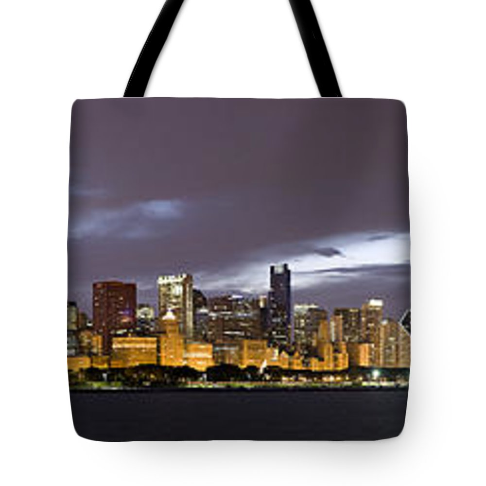 Chicago Skyline Tote Bag featuring the photograph Chicago Skyline  by Patrick Warneka