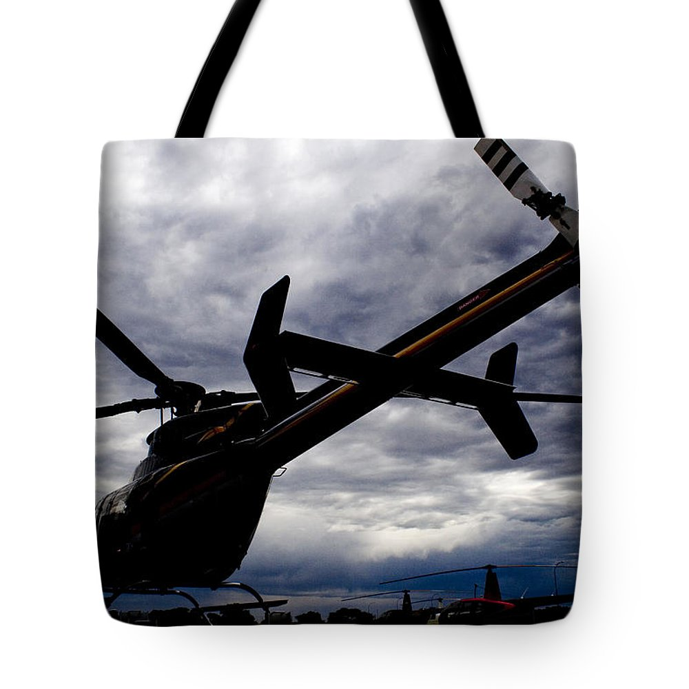 Bell 407 Tote Bag featuring the photograph 407 Clouds by Paul Job