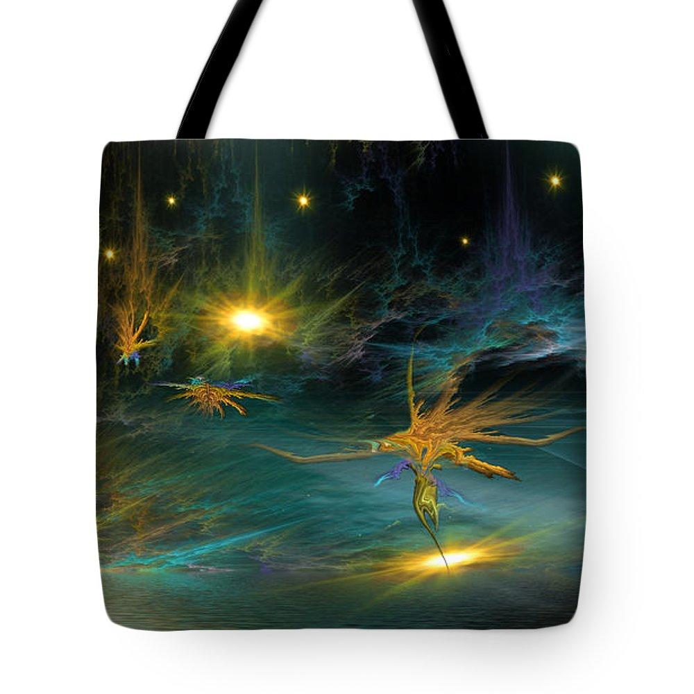 Phil Sadler Tote Bag featuring the digital art 421 by Phil Sadler
