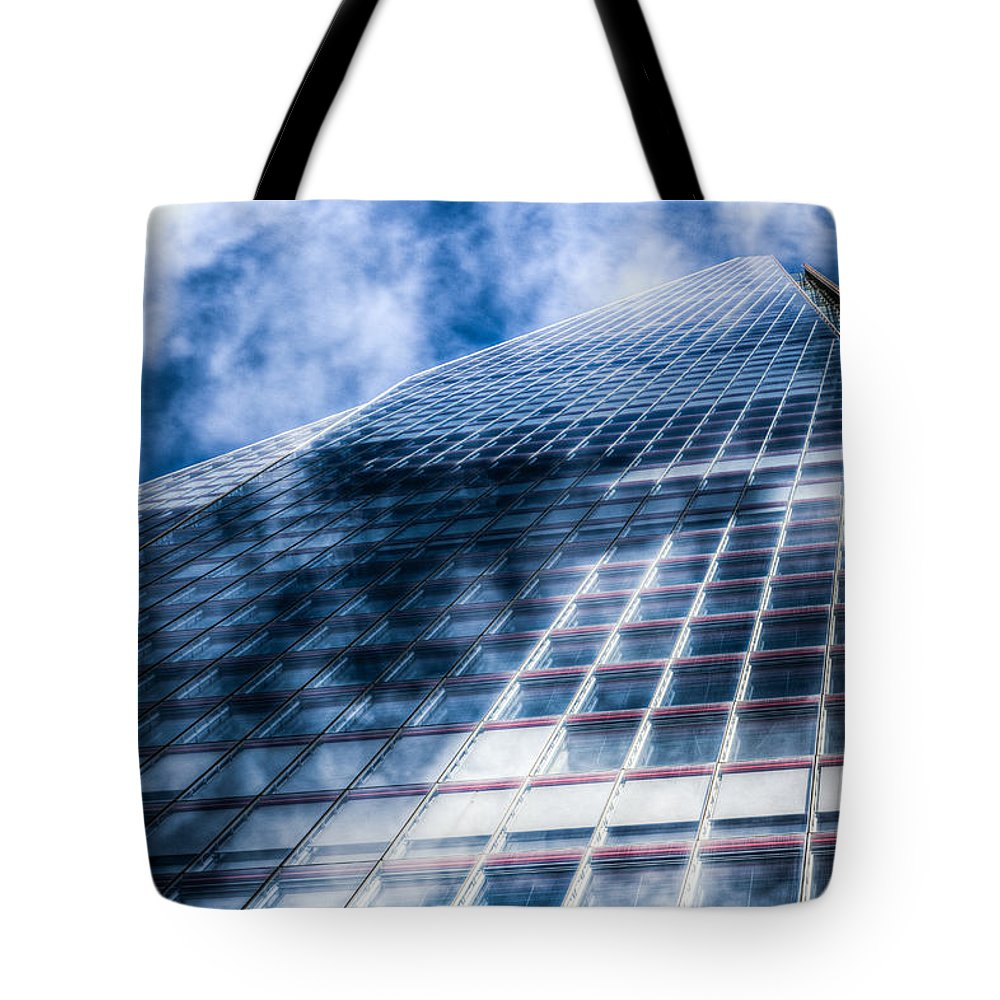 The Shard Tower Tote Bag featuring the photograph The Shard London by David Pyatt