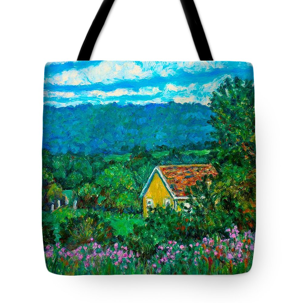 Landscape Tote Bag featuring the painting 460 by Kendall Kessler