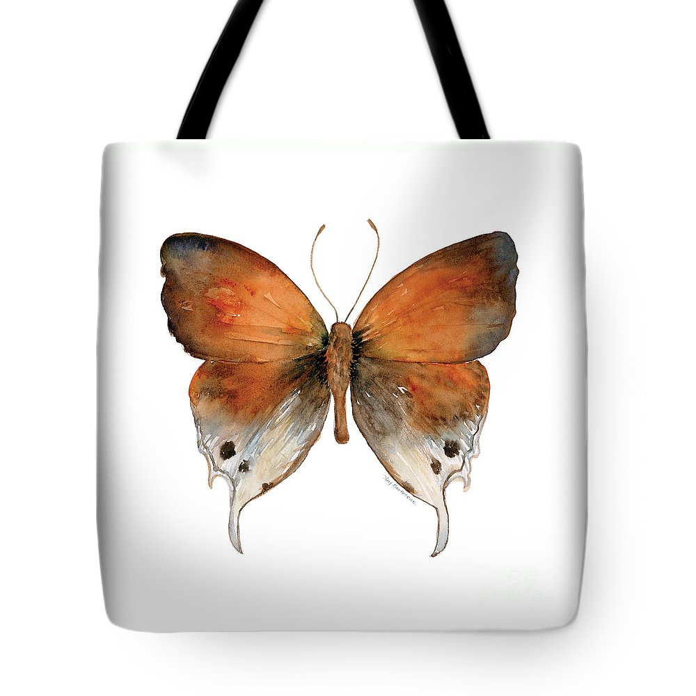 Manto Tote Bag featuring the painting 47 Mantoides Gama Butterfly by Amy Kirkpatrick