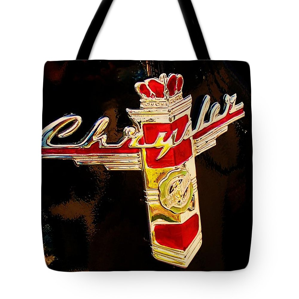 47 Packard Tote Bag featuring the photograph 47 Packard Logo by Eric Schiabor