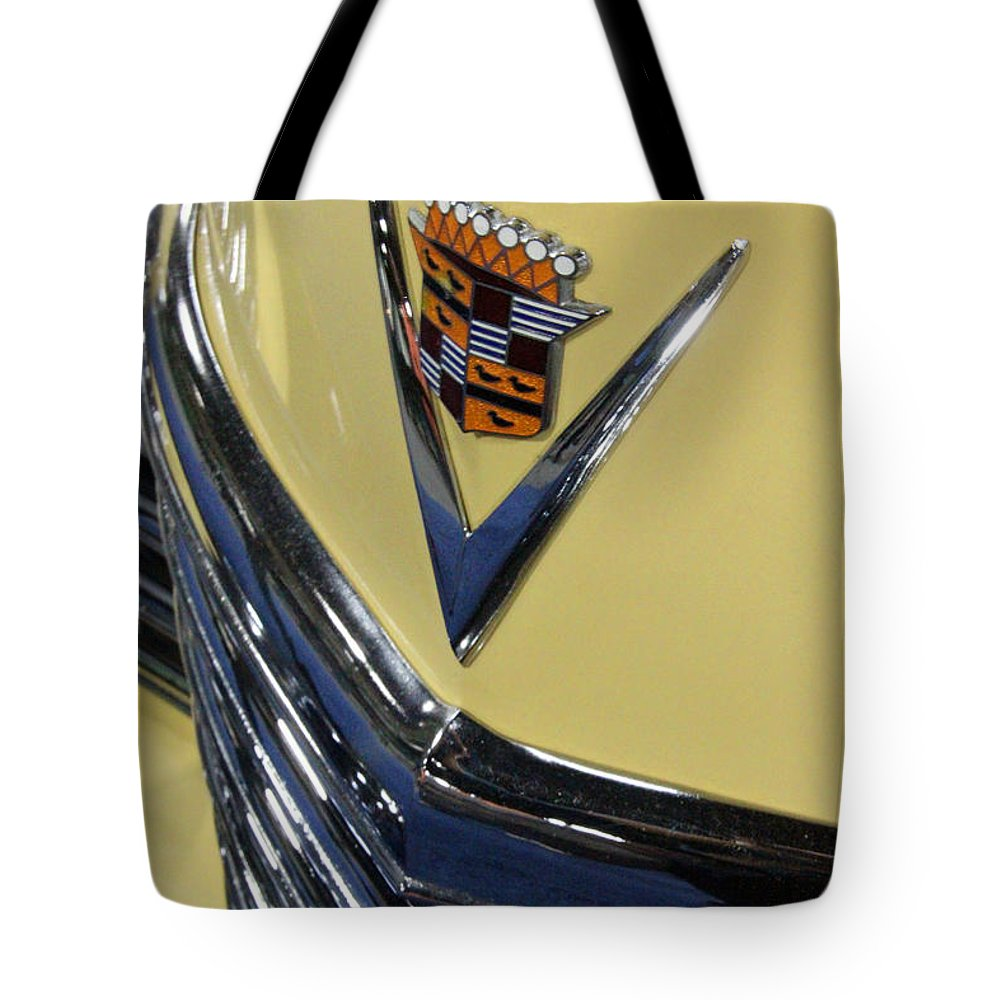 Car Tote Bag featuring the photograph 49 Caddie by Carolyn Stagger Cokley